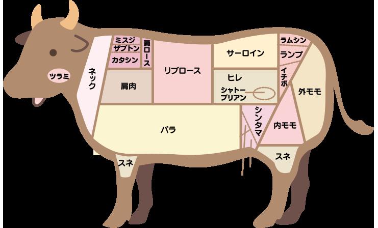 牛肉パーツ